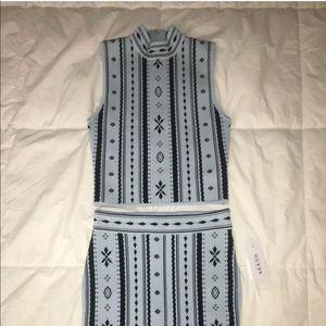Guess Crop top and Skirt set Sz XS